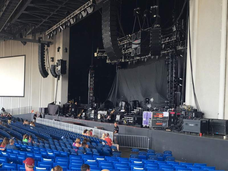 Seating view for PNC Music Pavilion Section 1 Row W Seat 7