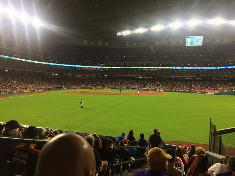 Seating view for Minute Maid Park Section 155 Row 14 Seat 2