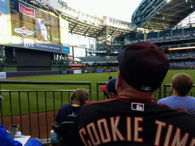 Seating view for Miller Park Section 125 Row 5 Seat 3