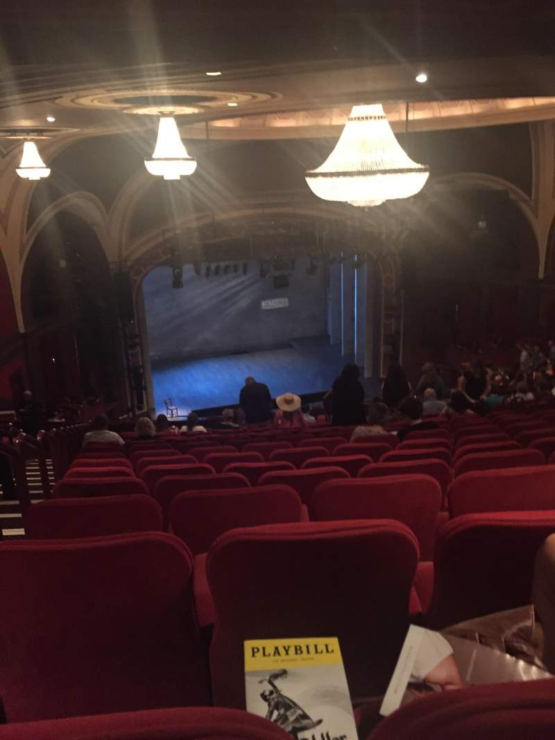 Seating view for broadway theatre - 53rd street Section Rear Mezzanine Row R
