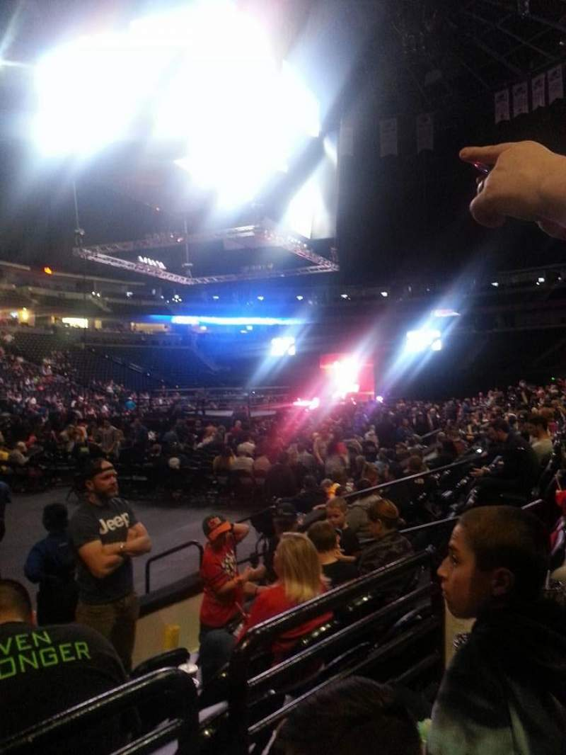 Seating view for Pepsi Center Section 106 Row 5 Seat 9-10