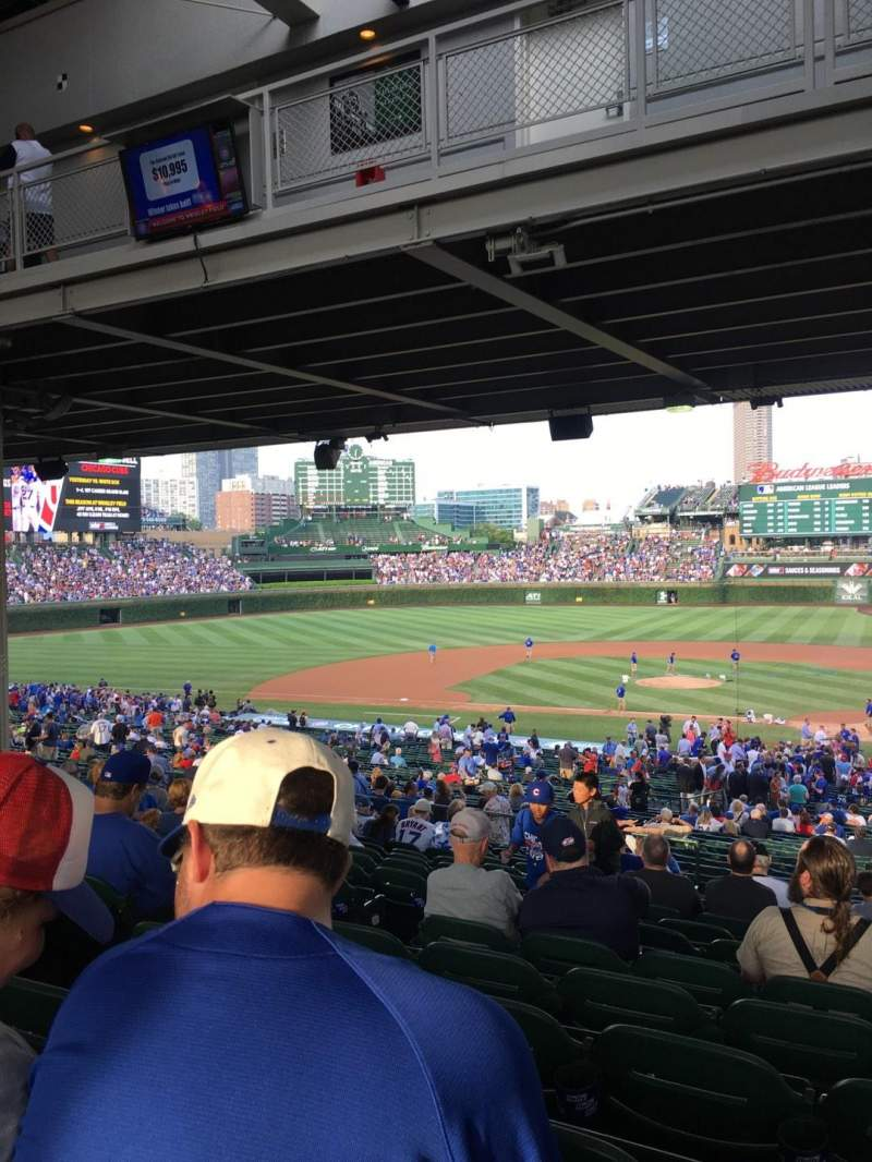 Seating view for Wrigley Field Section 216 Row 15 Seat 5