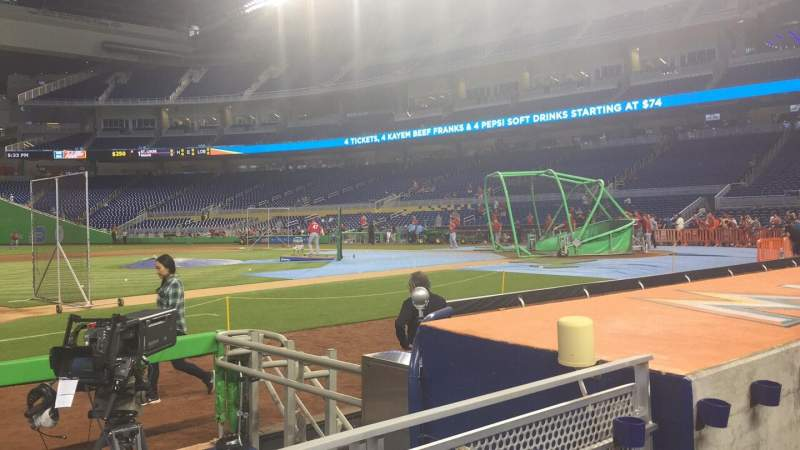 Seating view for Marlins Park Section 21 Row B Seat 11