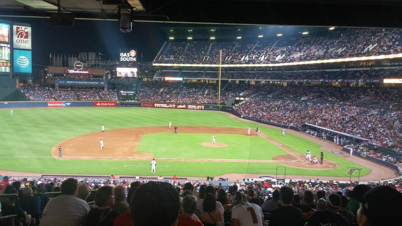 Seating view for Turner Field Section 212 Row 16 Seat 4