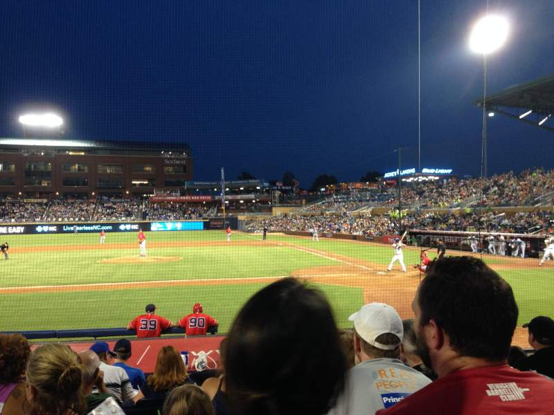 Seating view for Durham Bulls Athletic Park Section 107 Row K Seat 6