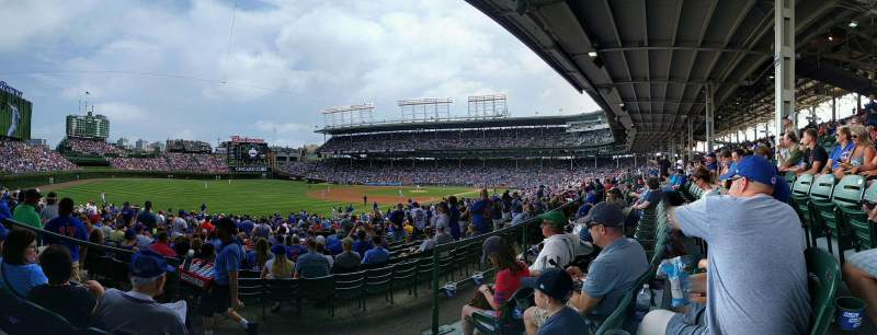Seating view for Wrigley Field Section 205 Row 3 Seat 1