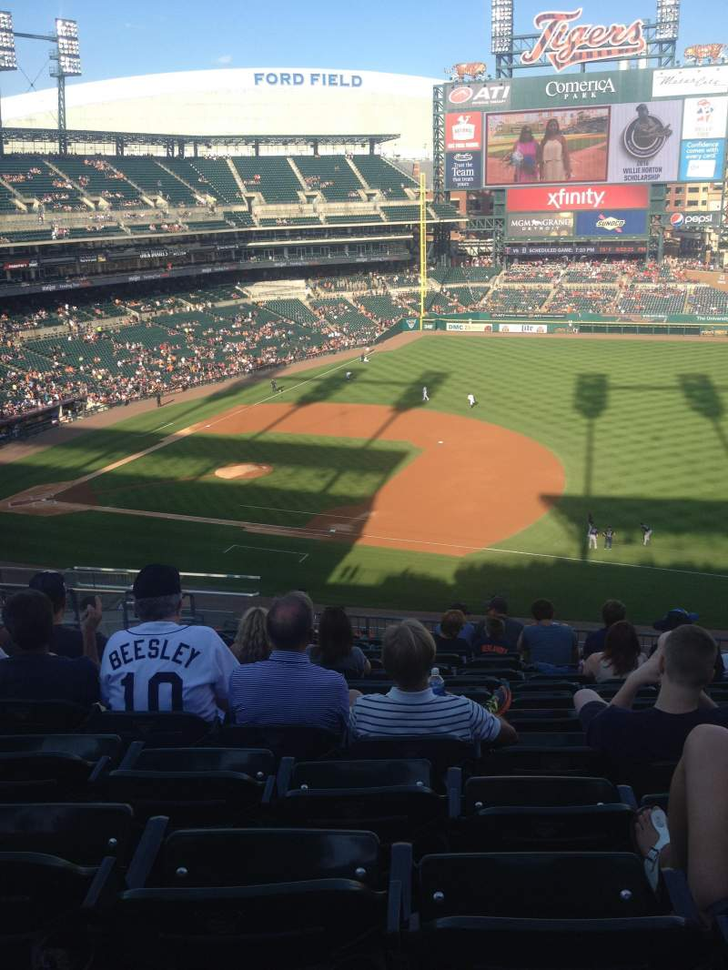 Seating view for Comerica Park Section 217 Row 15 Seat 15