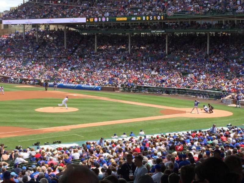 Seating view for Wrigley Field Section 209 Row 13 Seat 8