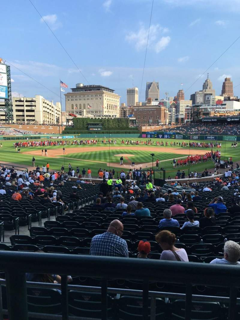 Seating view for Comerica Park Section 128b Row A Seat 1