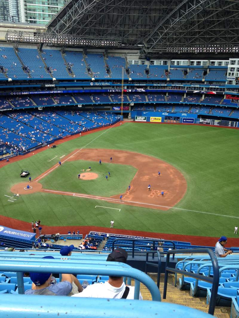 Seating view for Rogers Centre Section 517 Row 17 Seat 101