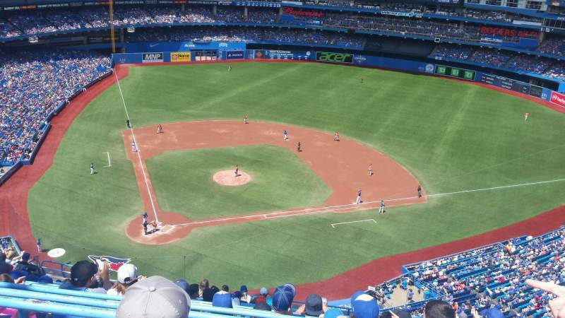 Seating view for Rogers Centre Section 522R Row 14 Seat 12
