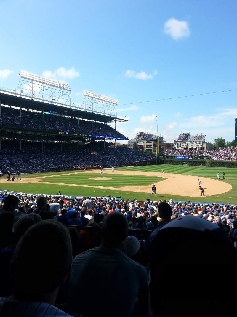 Seating view for Wrigley Field Section 231 Row 4 Seat 10