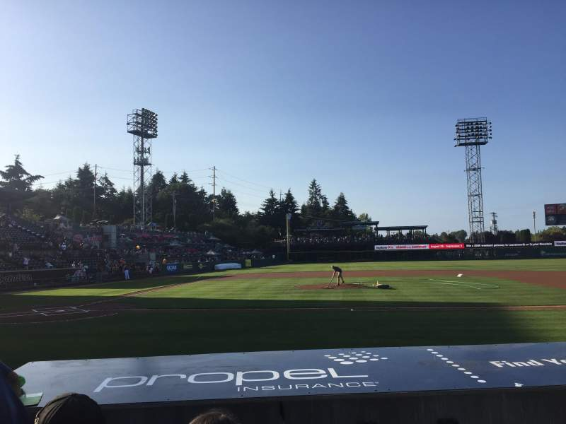 Seating view for Cheney Stadium Section 121 Row 7 Seat 4
