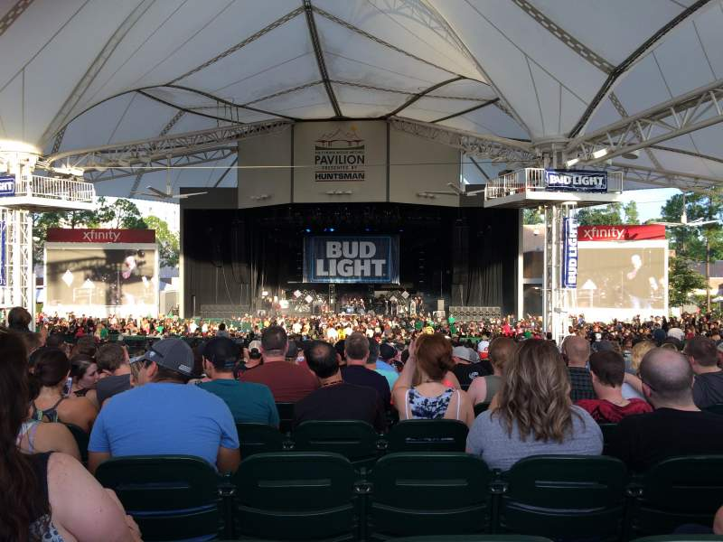 Seating view for Cynthia Woods Mitchell Pavilion Section 108 Row R Seat 12