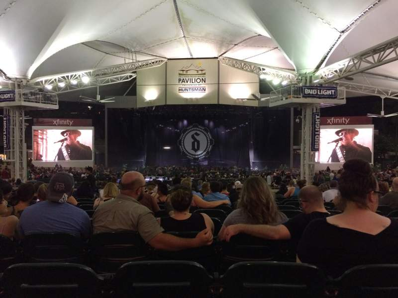 Seating view for Cynthia Woods Mitchell Pavilion Section 108 Row R Seat 13