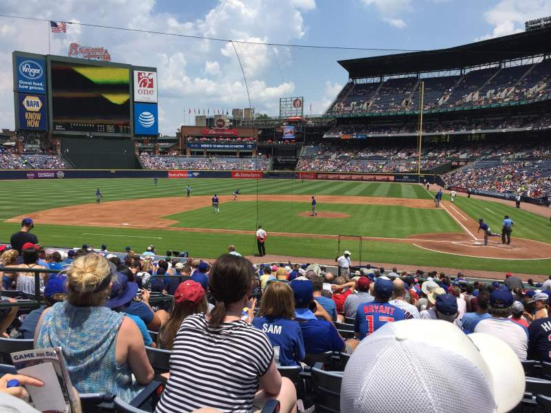 Seating view for Turner Field Section 108R Row 23 Seat 6