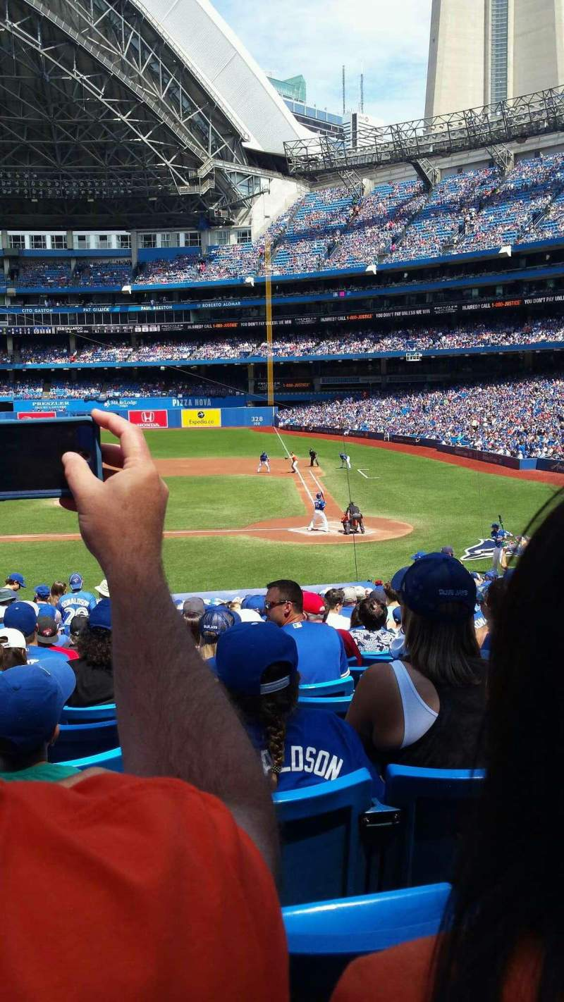 Seating view for Rogers Centre Section 125L Row 32 Seat 5