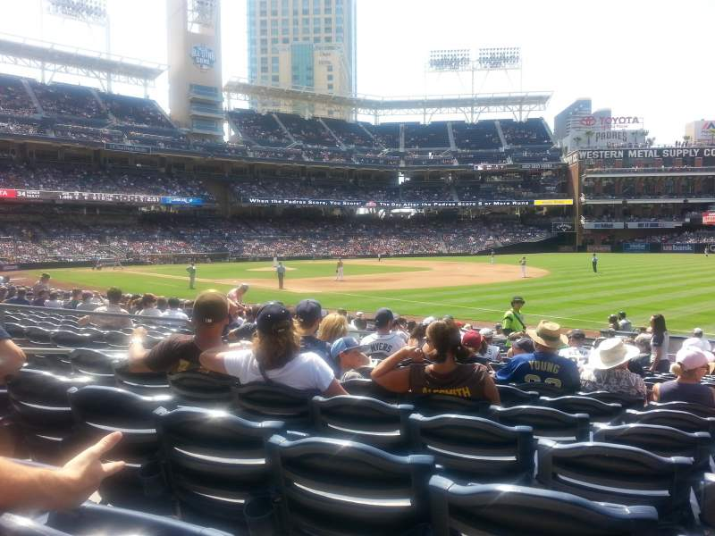 Seating view for PETCO Park Section 117 Row 21 Seat 8