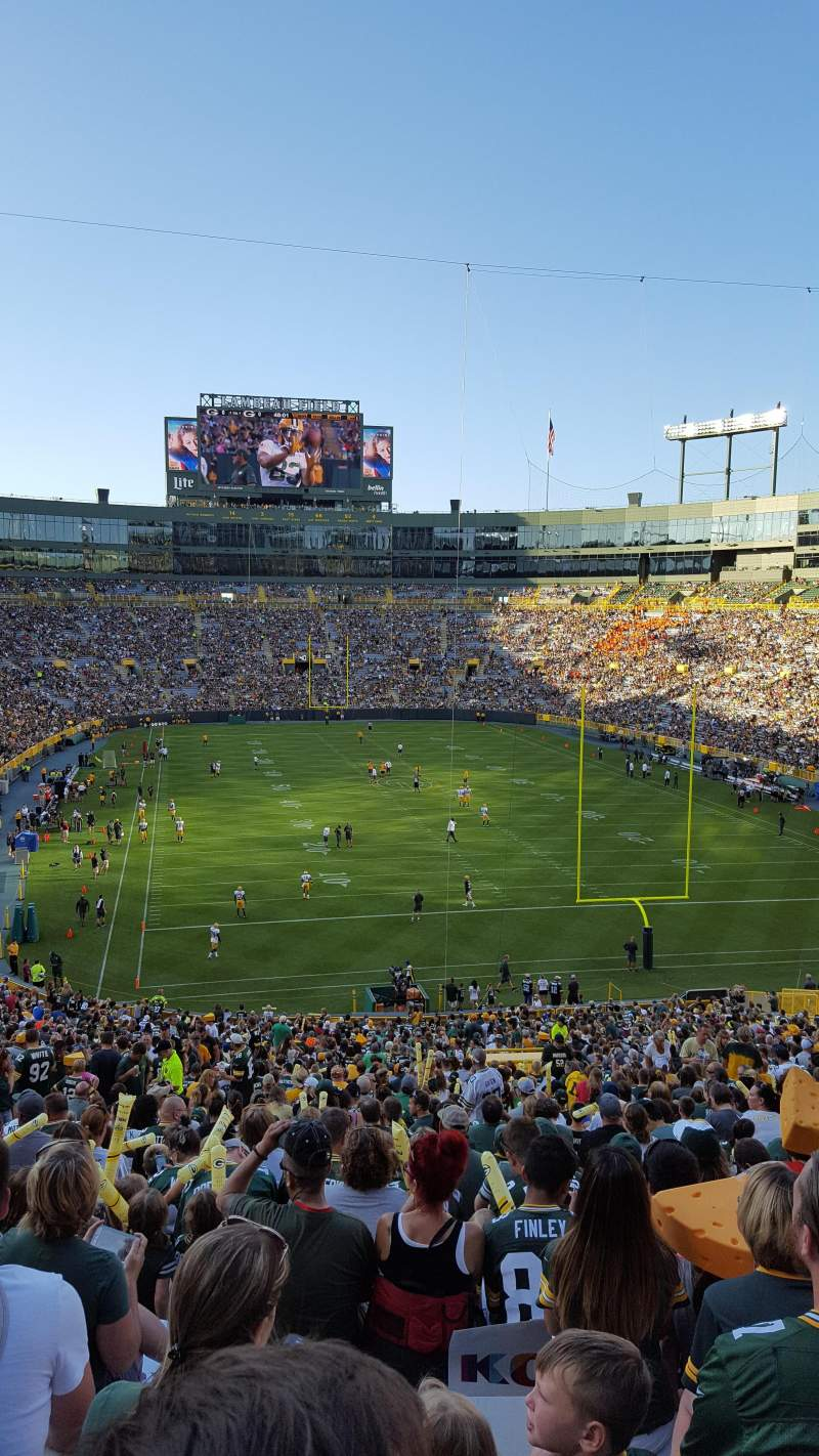 Seating view for Lambeau Field Section 136 Row 57 Seat 38