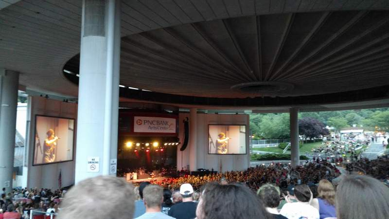 Seating view for PNC Bank Arts Center Section 404 Row L Seat 183