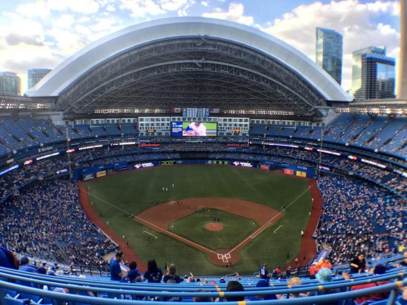 Seating view for Rogers Centre Section 524 Row 22 Seat 110