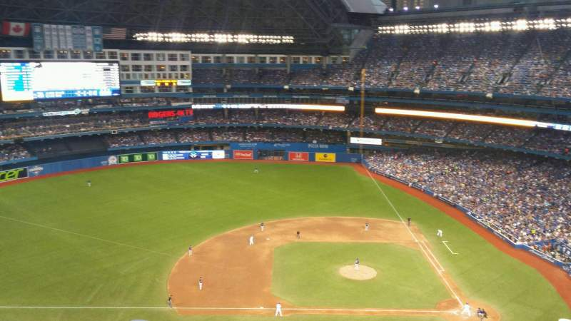 Seating view for Rogers Centre Section 529l Row 16 Seat 5