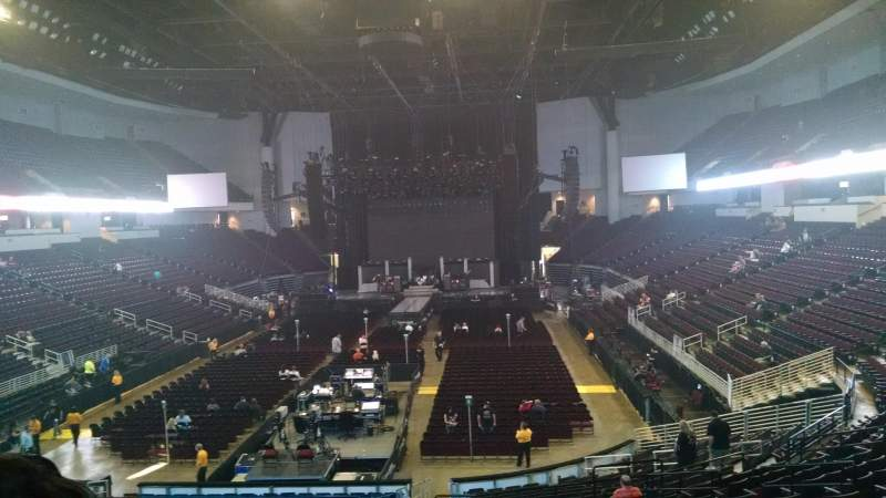 Seating view for CenturyLink Center (Louisiana) Section 102 Row Y