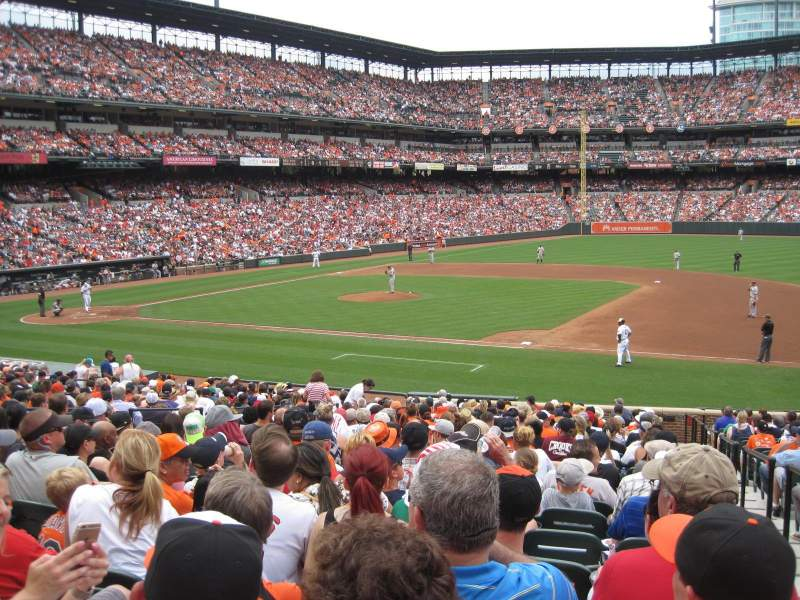 Seating view for Oriole Park at Camden Yards Section 18 Row 27 Seat 1