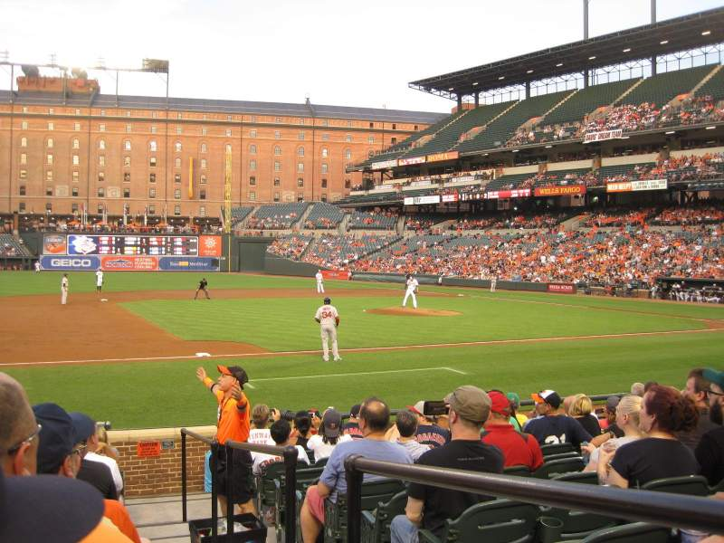 Seating view for Oriole Park at Camden Yards Section 56 Row 13 Seat 1