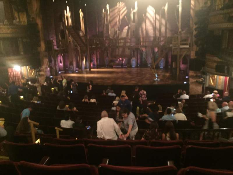 Seating view for Richard Rodgers Theatre Section Orchestra Row R Seat 10