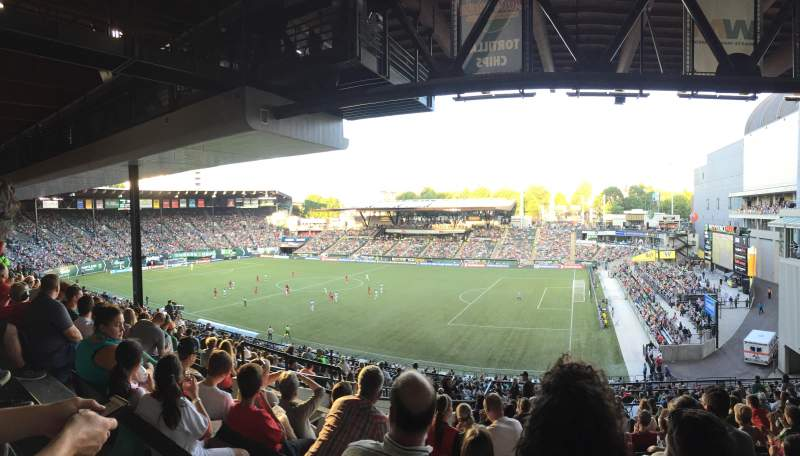Seating view for Providence Park Section 222 Row O Seat 7