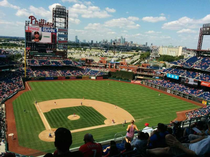 Seating view for Citizens Bank Park Section 418 Row 14 Seat 14