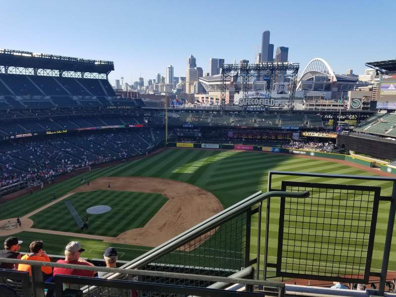 Seating view for Safeco Field Section 320 Row 10 Seat 1