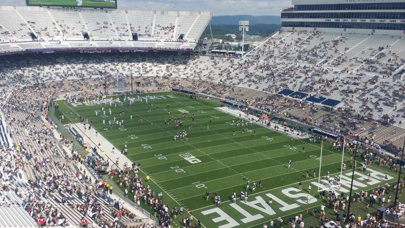 Seating view for Beaver Stadium Section SKU Row BB Seat 10