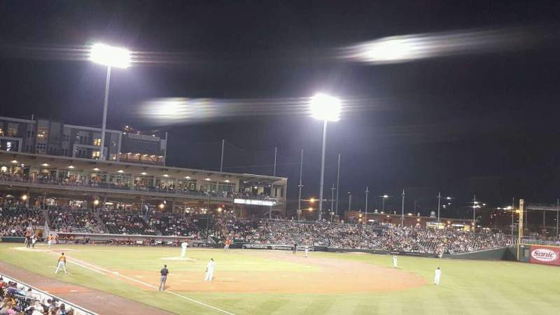 Seating view for BB&T Ballpark (Charlotte) Section 102 Row V Seat 22