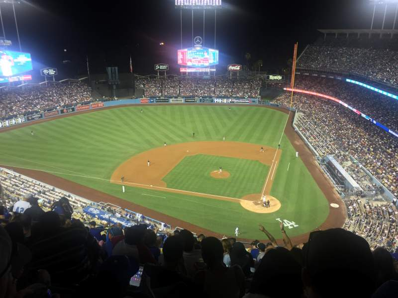 Seating view for Dodger Stadium Section 9TD Row M Seat 14