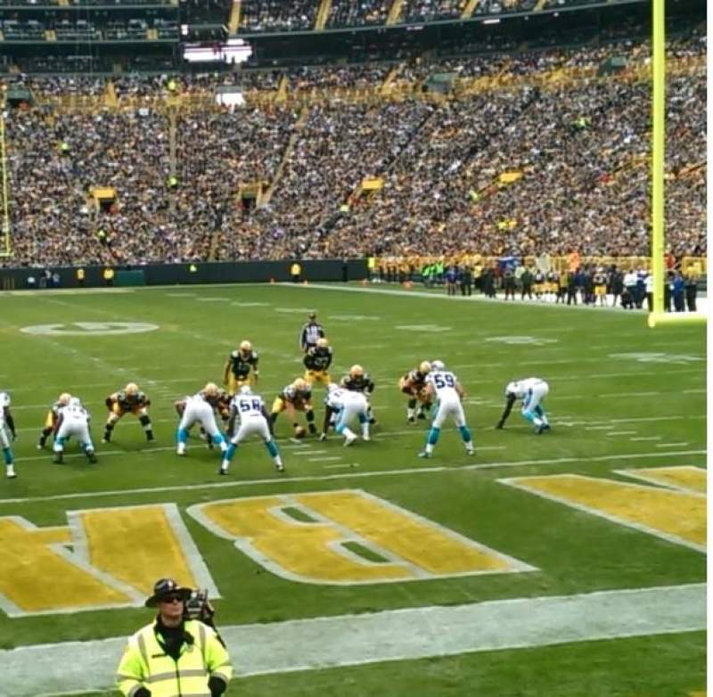 Seating view for Lambeau Field Section 101 Row 8 Seat 4