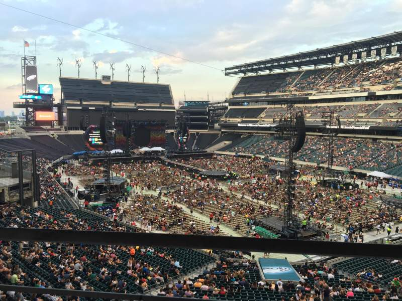 Seating view for Lincoln Financial Field Section SW Terrace 1 Row 1