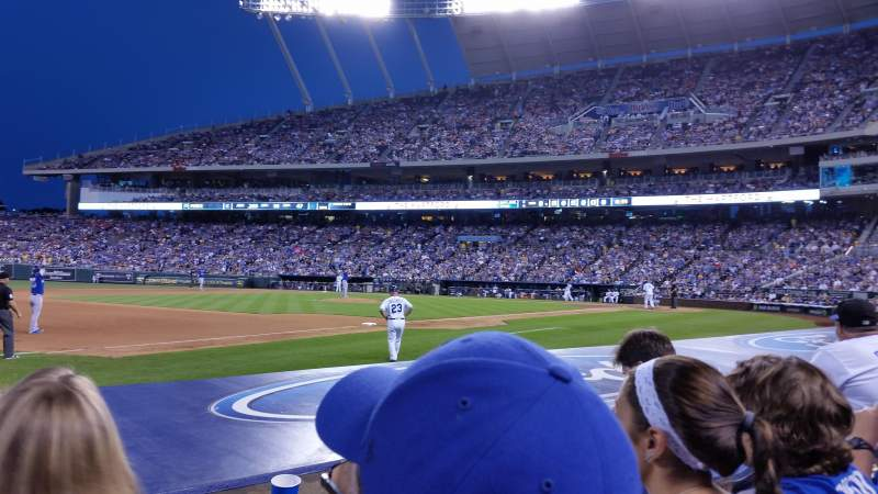 Seating view for Kauffman Stadium Section 116 Row C Seat 5