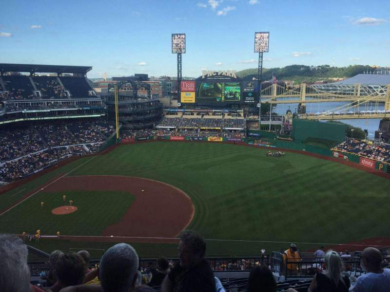 Seating view for PNC Park Section 308 Row R Seat 16