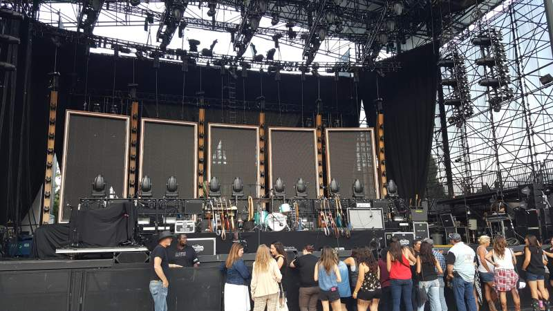 Seating view for Irvine Meadows Amphitheatre Section Orchestra 2 Row B Seat 215