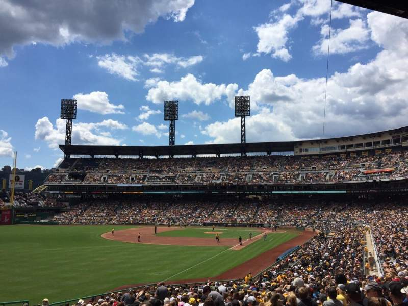 Seating view for PNC Park Section 131 Row BB Seat 20