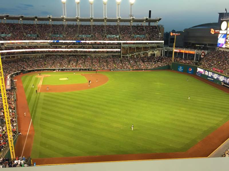 Seating view for Progressive Field Section 511SRO Row A Seat 1
