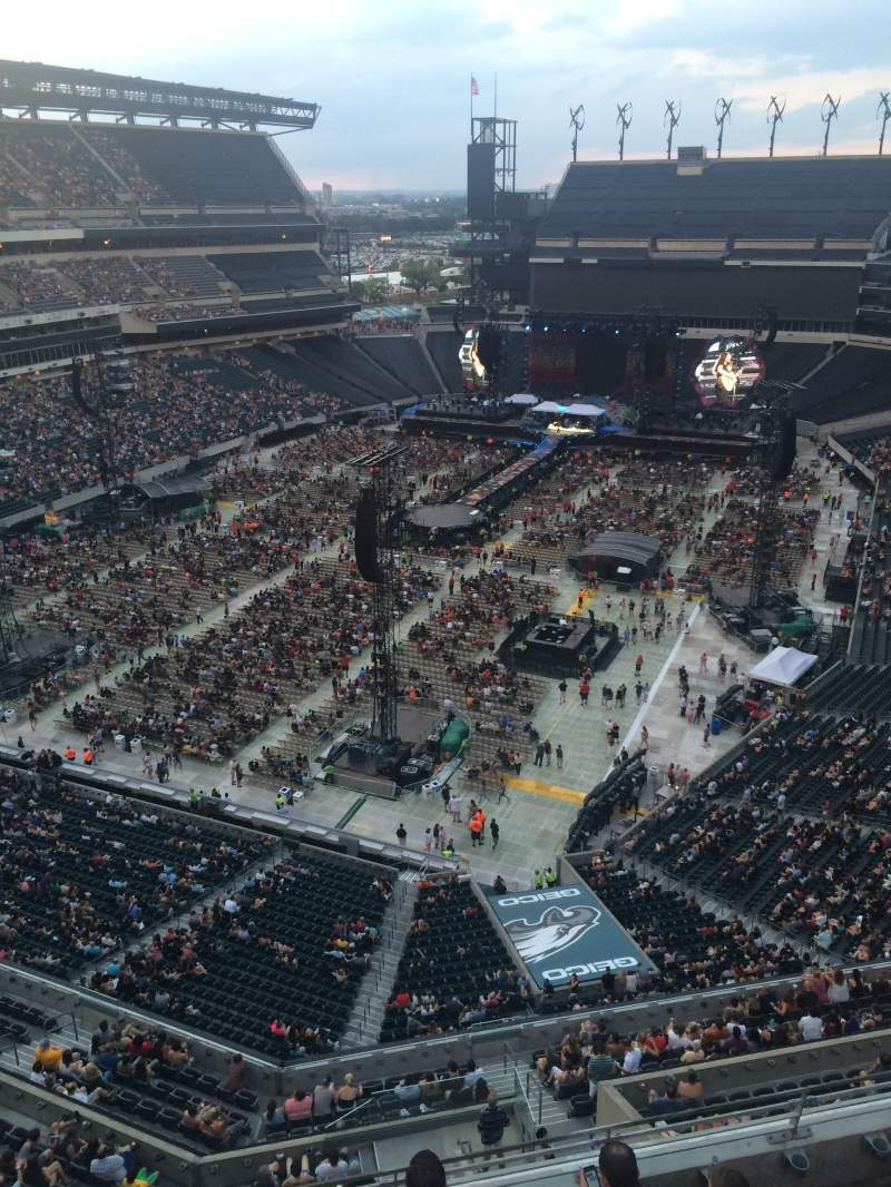 Seating view for Lincoln Financial Field Section 216 Row 5 Seat 1