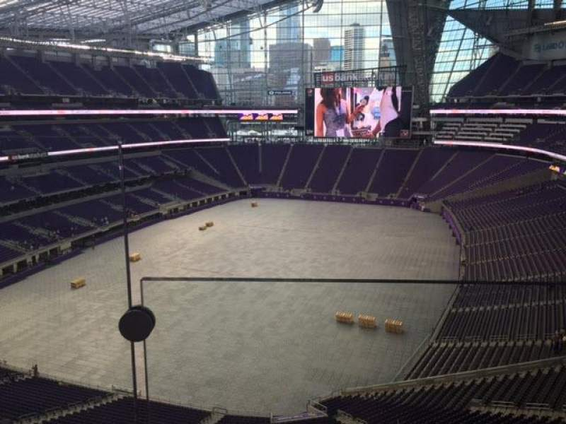 Seating view for U.S. Bank Stadium Section 322 Row A Seat 14