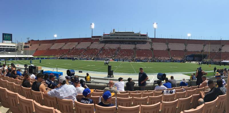 Seating view for Los Angeles Memorial Coliseum Section 121A Row 7 Seat 4