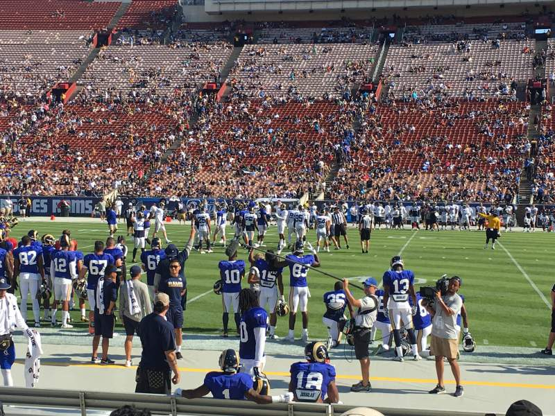 Seating view for Los Angeles Memorial Coliseum Section 21L Row 7 Seat 8