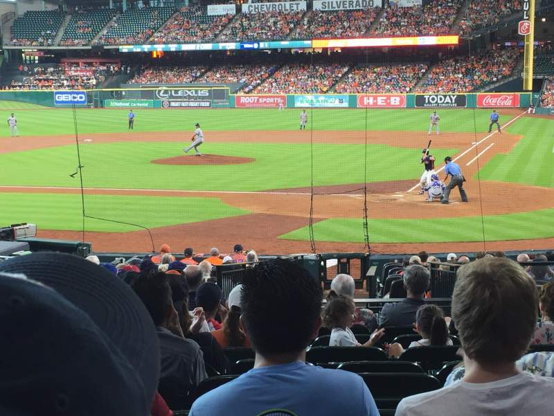 Seating view for Minute Maid Park Section 116 Row 23 Seat 25