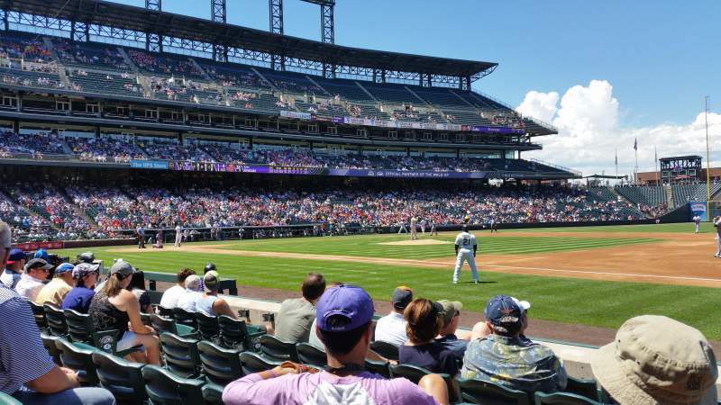 Seating view for Coors Field Section 120 Row 6 Seat 6