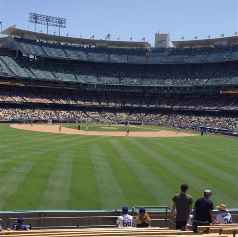 Seating view for Dodger Stadium Section 313PL Row N Seat 8